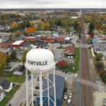 Fortville Water Tower (drone)